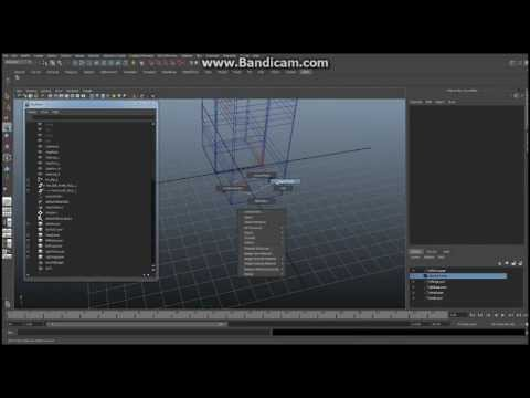 Minecraft - Maya - Tutorial - How to Build Your Character, Ep 4 Part B - Leg Control Structure