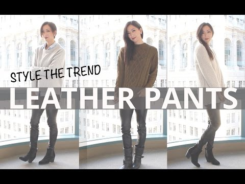 How To Style Leather Pants | LookMazing