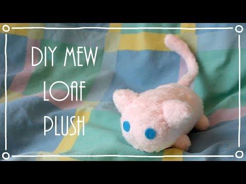 ❤ DIY Miniature Mew Loaf / Stacking Plush! How To Make A Cute Pokemon Plushie! ❤
