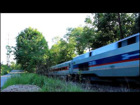 MNCR Danbury: Northbound Train in Wilton, Connecticut [P32AC-DM #218]