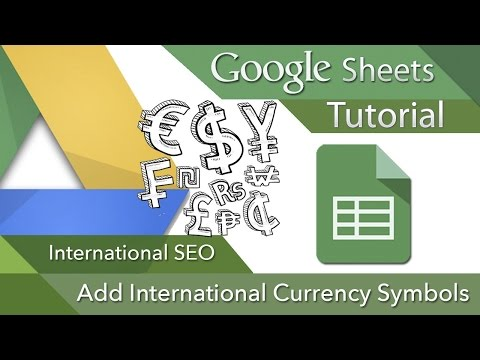 International SEO: Currency Symbol Google Spreadsheets [step-by-step instructions]