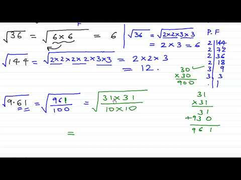 Square root by factorization method