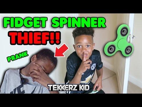 STOLEN FIDGET SPINNER Revenge EVIL Prank on Brother!!