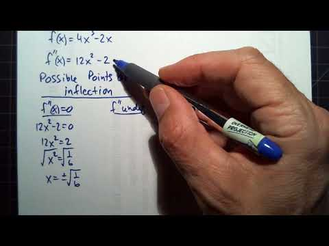 Calculus Jordan Concavity, points of inflection, relative extrema using second derivative test
