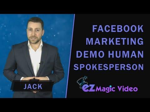 Demo Human Spokesperson Jack - Facebook Marketing