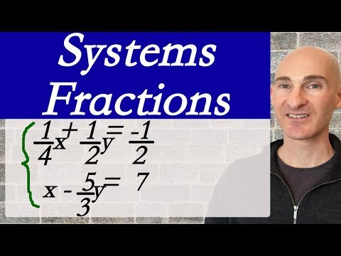 Systems of Linear Equations (Fractions & Decimals)