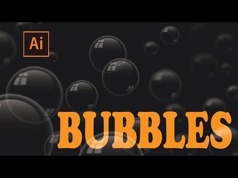 illustrator bubble design | illustrator bokeh effect