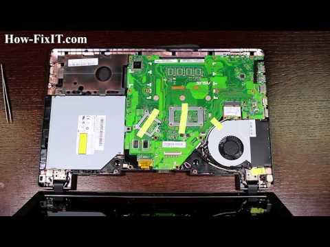 Asus X552 optical drive replacement, sustitución de la unidad óptica, замена привода