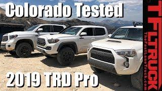 2019 Toyota TRD Pro Trucks Take On Imogene Pass