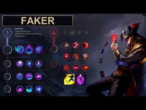 SKT Faker Build Twisted Fate - New Runes Season 8 solo vs Kennen (League of Legends Guide)