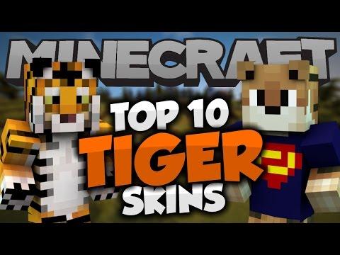 Top 10 Minecraft TIGER SKINS!  - Best Minecraft Skins