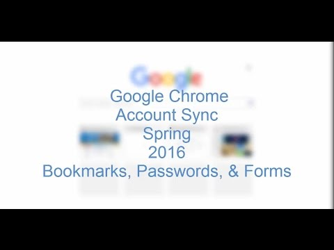 Google Chrome Sync and Management