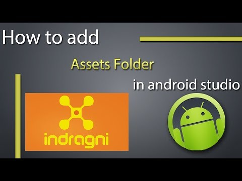 Where do I place the 'assets' folder in Android Studio