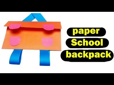 DIY Backpacks For Kids How - To Make Paper School Backpack For Kids [Origami]