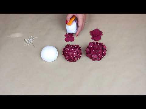DIY Paper Hydrangea Centers