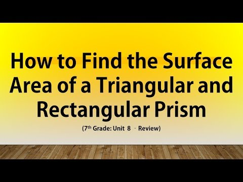 How to find Surface Area of a Triangular Prism and Rectangular Prism (#9 and 10 7th Grade U8 Review)