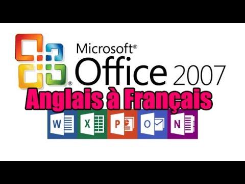 Comment changer la langue pour microsoft office 2007 d'anglais vers le français win 7