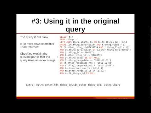 Really Large MySQL Queries: Advanced Optimization Techniques