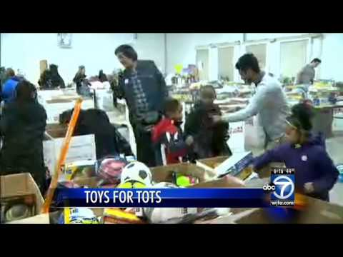 Local children receive gifts from Toys for Tots