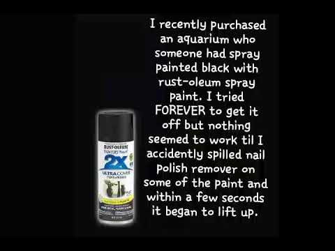 VERY EASY How to remove spray paint from glass or glass aquarium.
