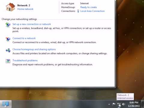 4. Setting Up A Secure Wireless Network - Windows 7