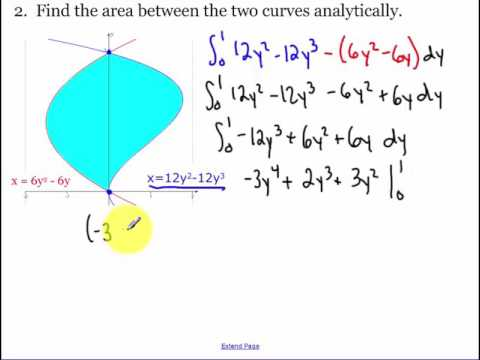 8.2 - Area between two curves day 1 (2018)