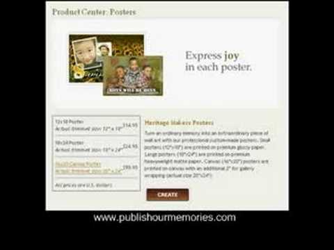publishing your memories online