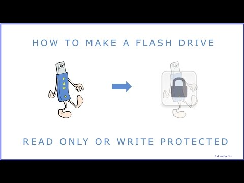 How To Make a USB Flashdrive Readonly or Write  Protected and how to remove readonly from usb