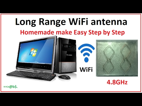 How to make long range WiFi antenna at home - Easy step by step