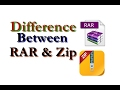 Difference Between Zip Archives and RAR Archives 2017