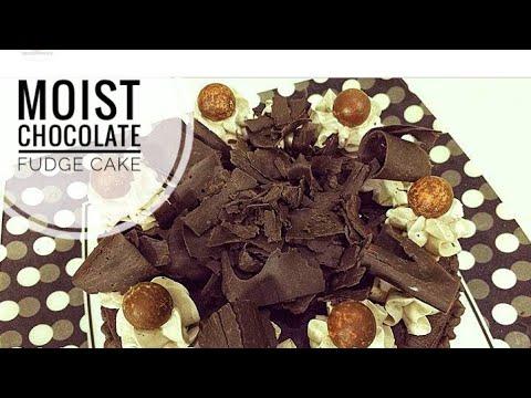Moist Chocolate Fudge Cake Recipe (oil- based) !!! Details in description box