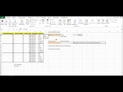 Excel 2013 Basic Excel Course (Pivot Tables, VLOOKUP, Conditional Formatting, Pivot Chart)