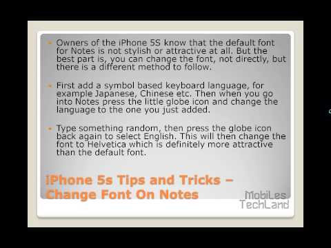 iPhone 5s Tips and Tricks -- Change Font On Notes