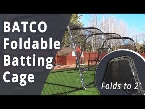 Batco Foldable Batting Cage for Baseball and Softball