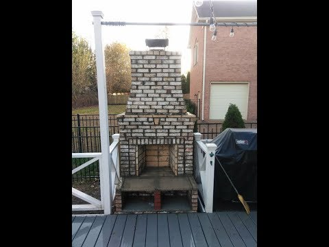 How to build Outdoor deck fireplace/firebrick