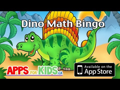 Dino Math Bingo