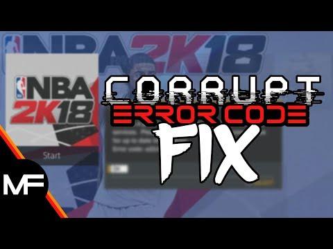 NBA 2K18 | ERROR CODE / SERVER CORRUPT MyPLAYER FIX | PS4