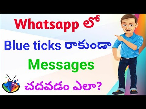 How to disable whatsapp blue ticks in telugu | By SSS Tech TV