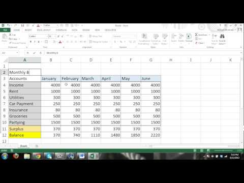MS Excel 2013 Tutorial FOR BEGINNERS PART 4 - How to use Excel - formulas, charts, tables