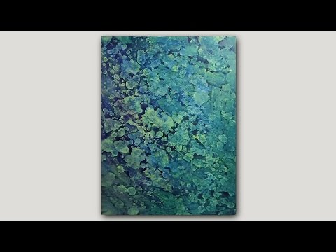 DIY Abstract Art Print   Acrylic Paint and Rubbing Alcohol Technique