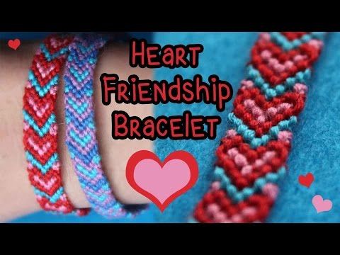 Tutorial: Heart Friendship Bracelet {3 Colors} ♥