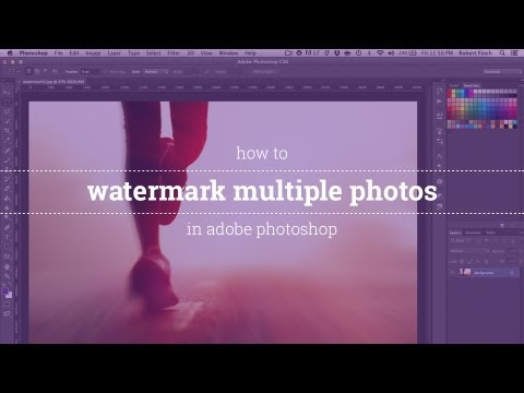 How to Watermark Multiple Photos in Photoshop