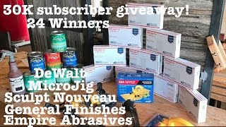 Enter the big 30K subscriber giveaway, 24 winners!