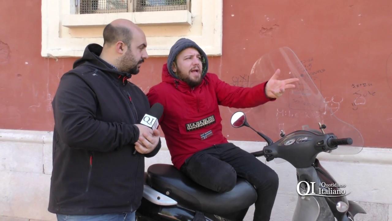 """Bari, scooter e cane libero in piazza Redentore. Michele: """"I bambini si divertono non fanno i bulli"""""""