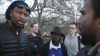 Hebrew Israelite Ty Debates Muslim Guy Awais - Various Topics - Speakers Corner - Youtube -