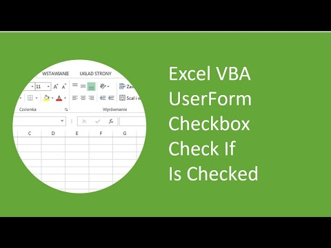 Excel VBA UserForm Checkbox Check If Is Checked