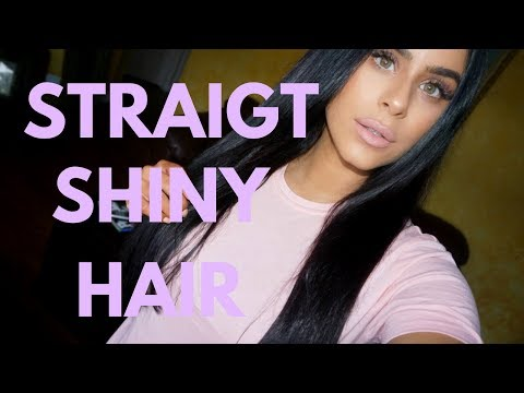 How I Get Straight Shiny Soft Hair