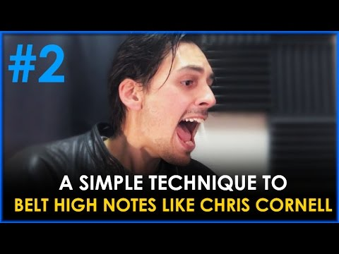 BELTING TECHNIQUE FOR SINGING - CHRIS CORNELL VOCAL TECHNIQUE - HOW TO SING HIGH EP#2