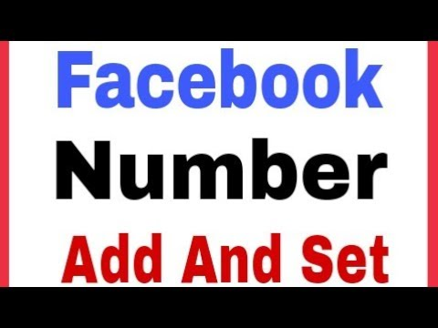 How To Set Number In Facebook Account