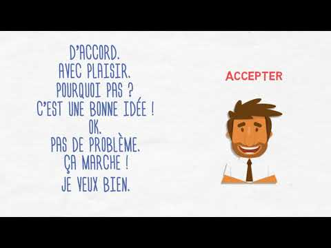 Accepter/Refuser une invitation en français